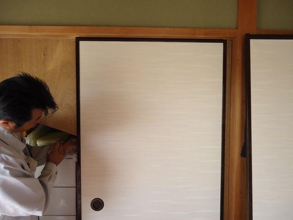ドア施工前のふすま
