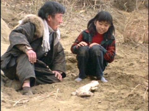 サユリと祖父とショウベエ(=ハンザギラン)