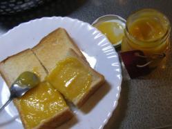 レモンカードのトースト