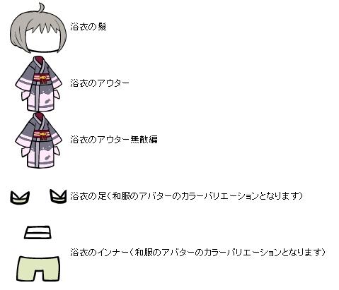 ぷちロクの浴衣シリーズ1