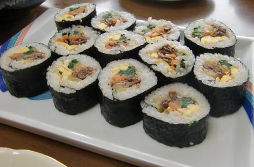 私の大好きな、韓国風海苔巻!