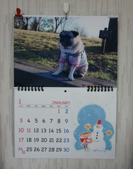 チッチカレンダー、1月ですよ。