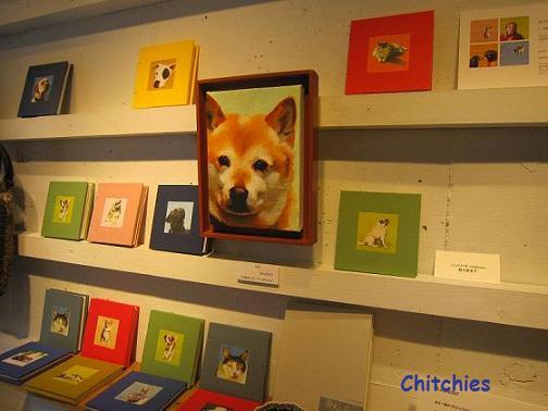 Kの作品コーナー、彼女の愛犬の絵は非売品です