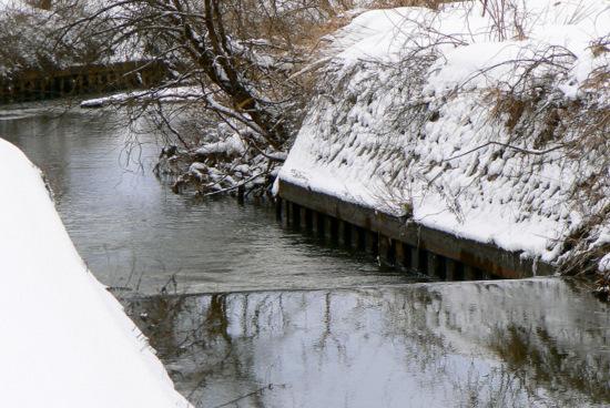 100124 梵字川の堰堤