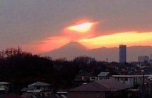 三つ池からの富士山 康雄