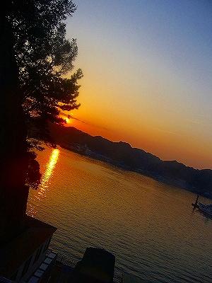 ホテル浦島の夕日