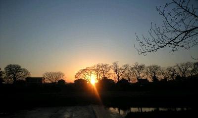 鴨川の夕日