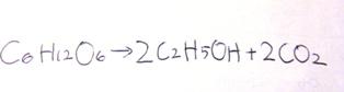 お酒の発酵の化学式