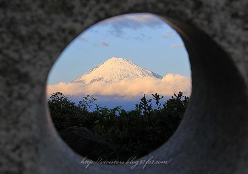 覗き穴から富士山