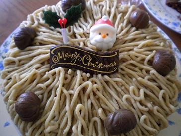 09年クリスマスケーキはモンブランだよ
