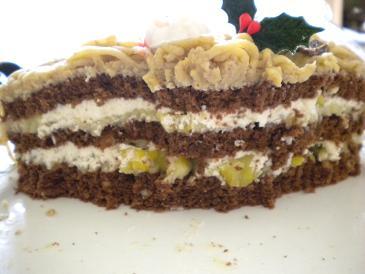09年クリスマスケーキ、切り口