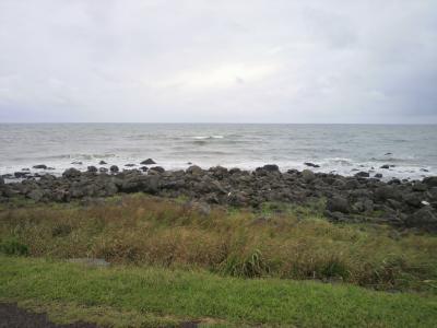 道の駅象潟から見える海