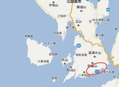 江田島地図2分割南(陀峯山南b)