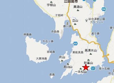 江田島地図2分割南(陀峯山南西A)