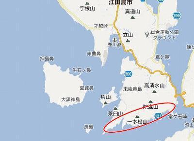 江田島地図2分割南(陀峯山南C)