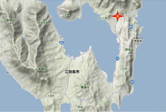 2)江田島町南部・中央・五輪の塔