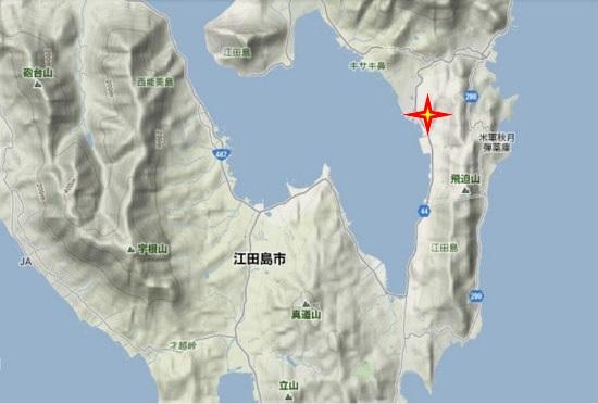 2)江田島町南部・矢ノ浦浄水場跡