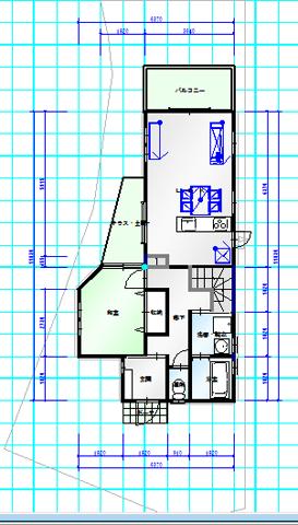 東香里C 1階間取図面