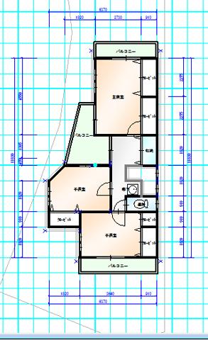 東香里C 2階間取図面