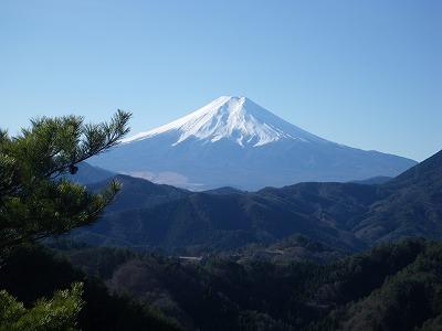 屏風岩からの富士山