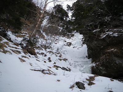 見晴らしルンゼ最後の滝