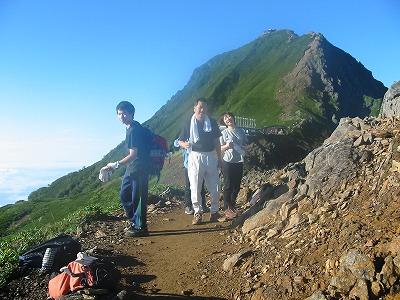 稜線から赤岳