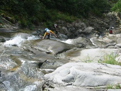 白毛門沢_タラタラノセン上の滑滝