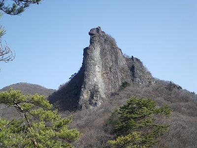 尾根ルート途中からの獅子岩2