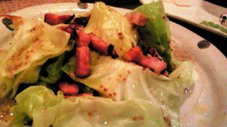 温製キャベツとベーコンのサラダ
