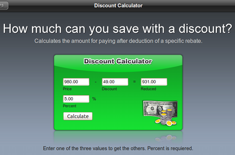 Discount Calculator Web電卓 割引計算
