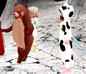 レッドパンダ  お月見 ジャンプ 月面 27