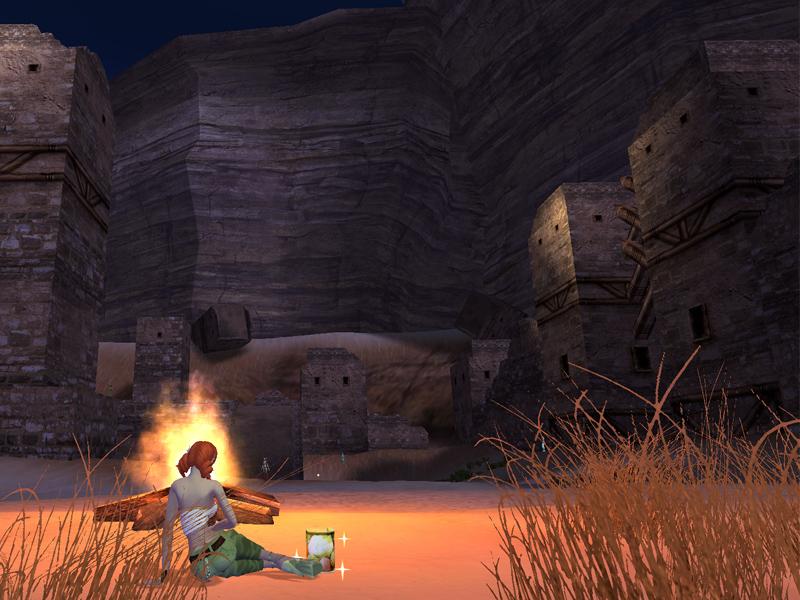 鳴砂村の夜