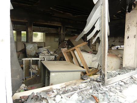 022 校舎内部破壊状況
