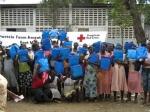 ハイチでの蚊帳の配布(地震前)
