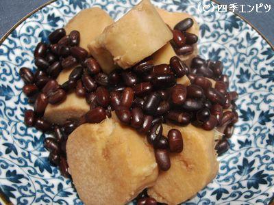 京芋とあずきの煮付け