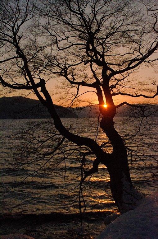 20110205-十和田湖の落陽