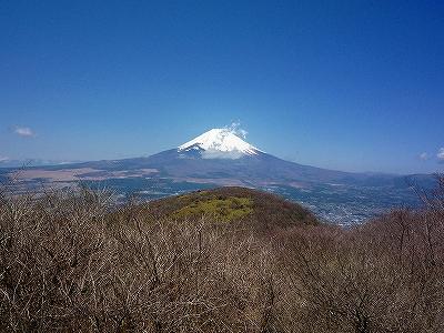 丸岳山頂付近から富士山を望む
