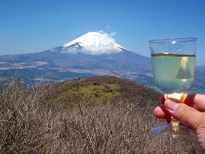 富士山に「乾杯!」