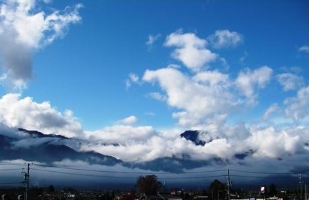 雨上がりの大天井岳