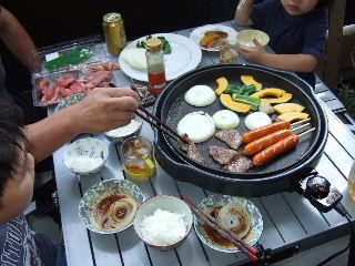 ベランダde焼き肉