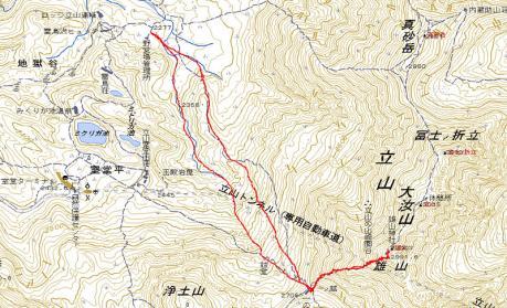 雄山GPS地図