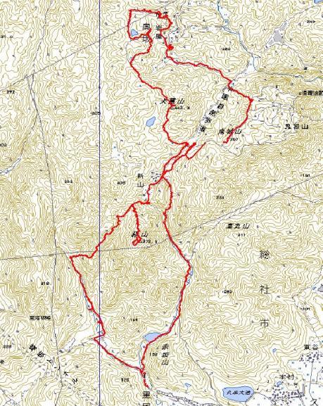 鬼ノ城山地図