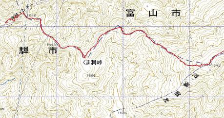 くま洞峠地図