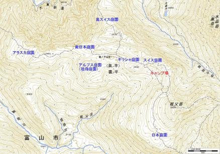 雲ノ平地図