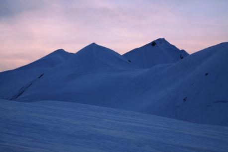 夕焼けの大日岳
