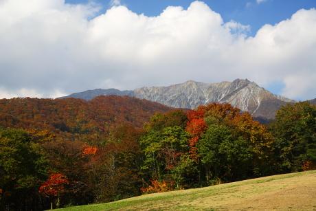奥大山から見た大山南壁