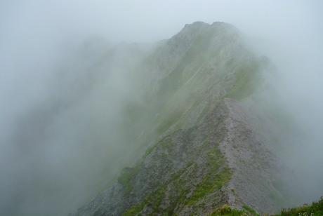 天狗ヶ峰への稜線