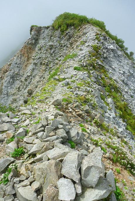 剣ヶ峰への尾根