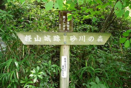 登山道道標