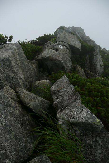 稜線ルートの巨岩3